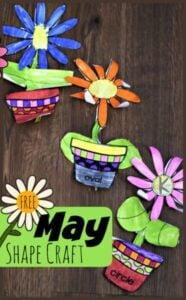 Flower Shape Math Craft