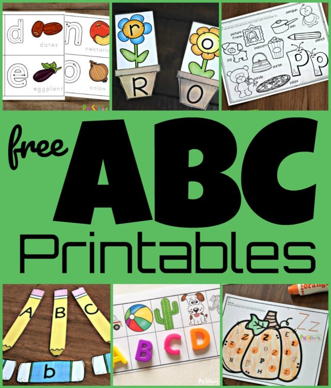 Free printable preschool alphabet worksheets and abc games