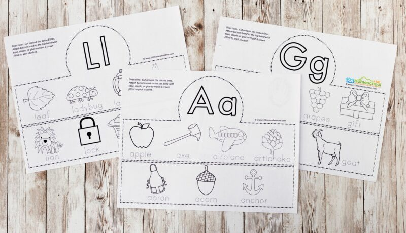 super cute free alphabet hats printables