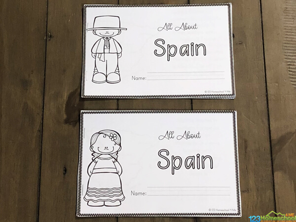 free spanish worksheets for learning about the history, culture, customs, and famous landparks in spain