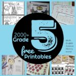 2000+ grade 5 worksheets including free printable math games, English grammar activities, science, geography, history, music, science, and more #5thgrade #grade5 #homeschool