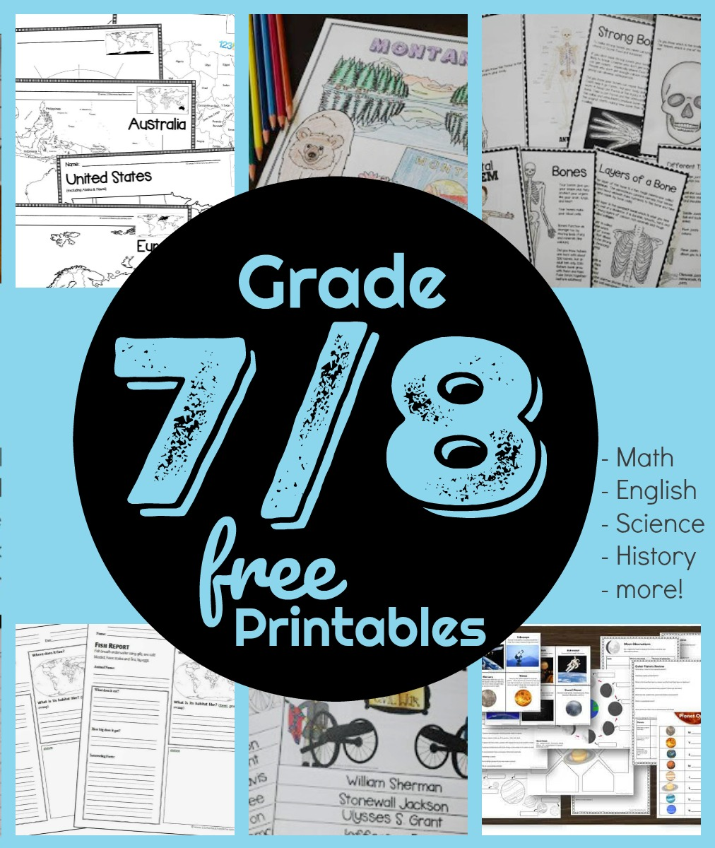- FREE 7th & 8th Grade Worksheets