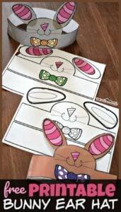Printable Bunny ears template