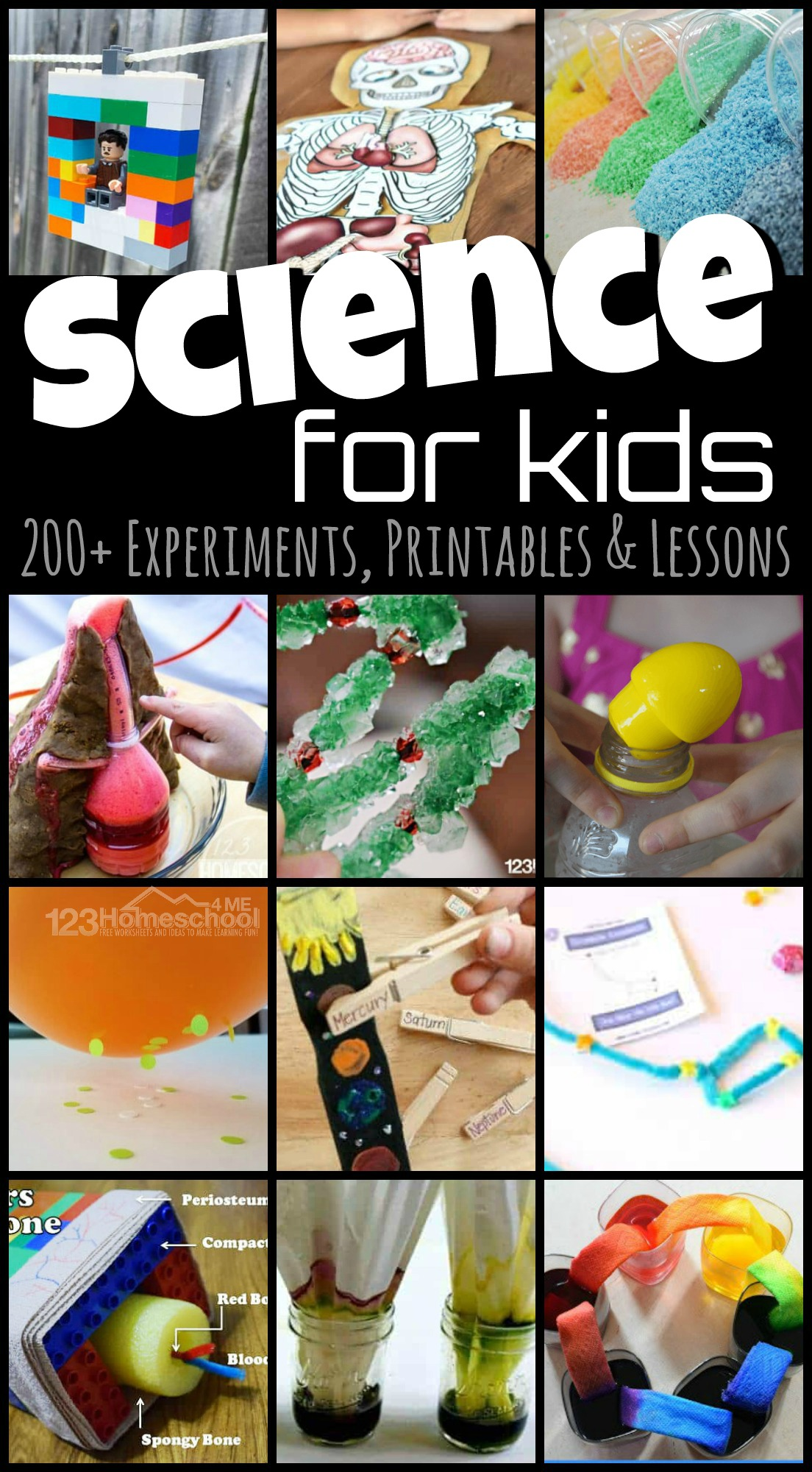 Science for Kids - over 200 fun, creative, and unique science experiments, science projects, science printables, and lessons for prek, kindergarten, 1st grade, 2nd grade, 3rd grade, 4th graders, and more #science #scienceexpeirments #scienceprojects #homeschool #scienceforkids