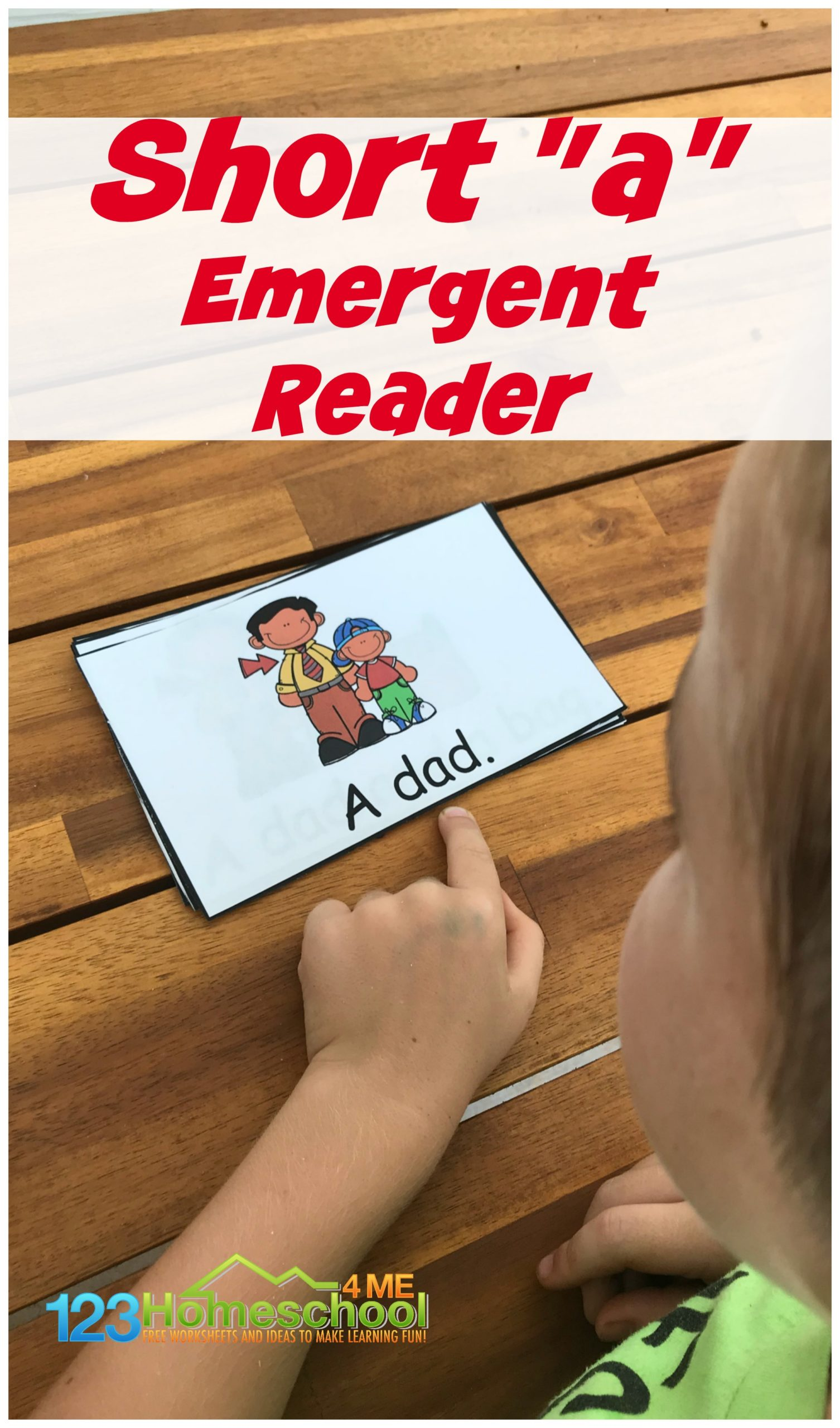 FREE Short a Words Emergent Reader - Beginning readers need lots of practice reading word family words and sight words. This free printable, short a words emergent reader is a great way for pre k, kindergarten, and first graders to gain fuency and confidence reading.