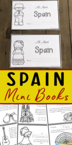 FREE Spain for Kids Printable Book - Learn about the history of Spain and famous landmarks with this free Spain for Kids Printable Book. This is such a great way to to introduce countries around the world to kids from preschool to kindergarten, grade 1 and more! #countriesaroundtheworld #geography #spainforkids