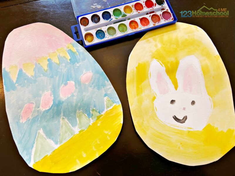 Easter Crafts for Preschoolers using paint and crayons