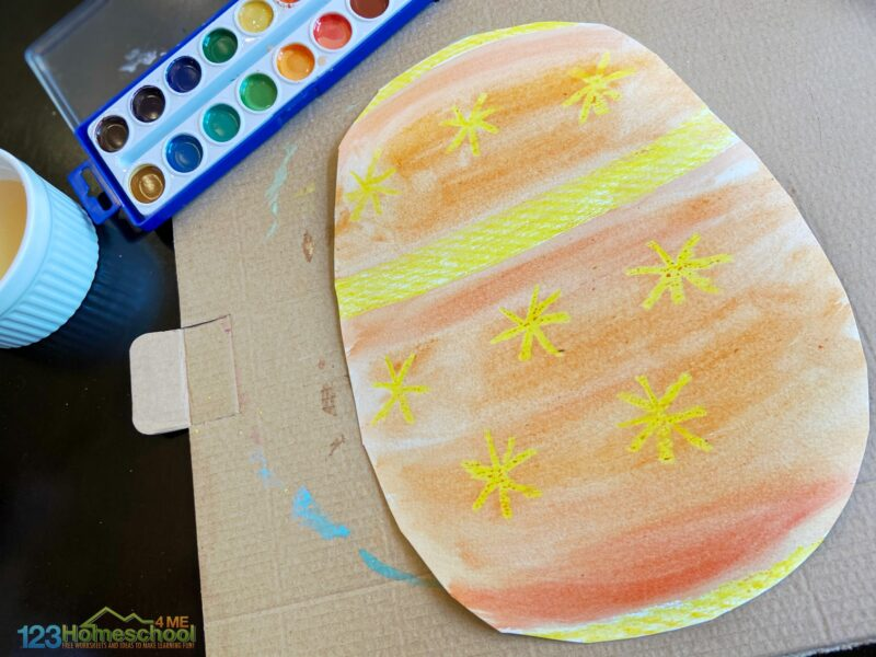 Easter Egg Craft for toddlers, preschoolers, kindergartners, first grade, 2nd grade, and 3rd grade students