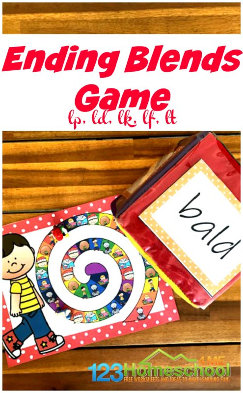 Are you looking for a fun way for your first grader to practice Ending Blends? This fun phonics game is a great way to help improve skills to become better readers and spellers.
