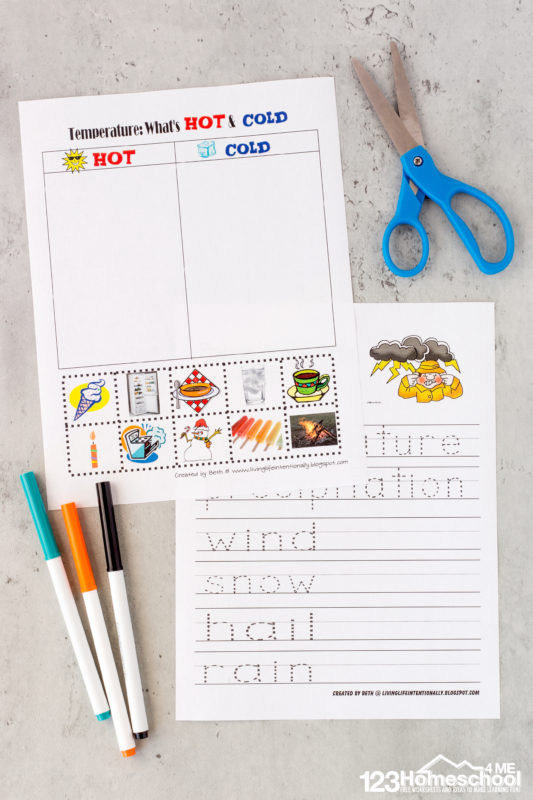 Kindergarten weather worksheets