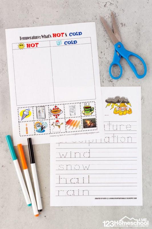 Kindergarten weather worksheets
