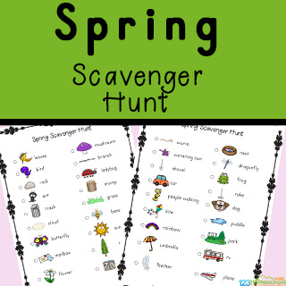 Scavenger Hunt Ideas for Kids - print in color or black and white