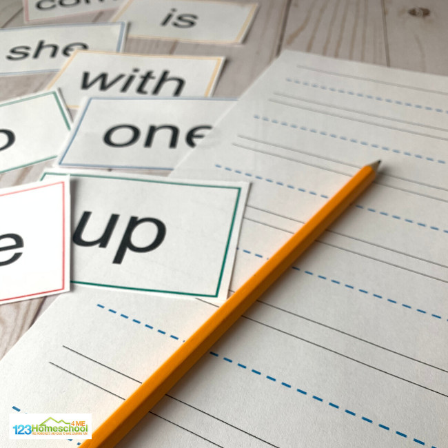 sight word flash cards set