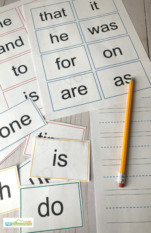fun Sight Words Practice with free printable for preschoolers, kindergartners, first graders, 2nd graders and 3rd graders
