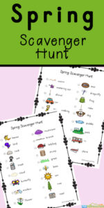 Spring is such a lovely season to get out outside and have fun. Kids will enjoy walking around the neighborhood, getting some exercise, while searching for different items such as a bird, flower and worm, as part of this free printable Spring Scavenger Hunt.