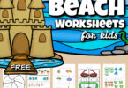 Use these super cute beach worksheets to sneak in some fun summer learning in between all your summer activities to keep up skills and avoid the summer leaning loss. These free beach printables include letter find, beach i spy, beach math, counting, addition, skip counting puzzles, and so much more. This HUGE pack of over 70 pages of beach worksheets for preschool, pre k, kindergarteners, and first graders is so handy! Simply download pdf file with summer worksheets for preschoolersand you are ready to play and learn with abeach activity for kids!
