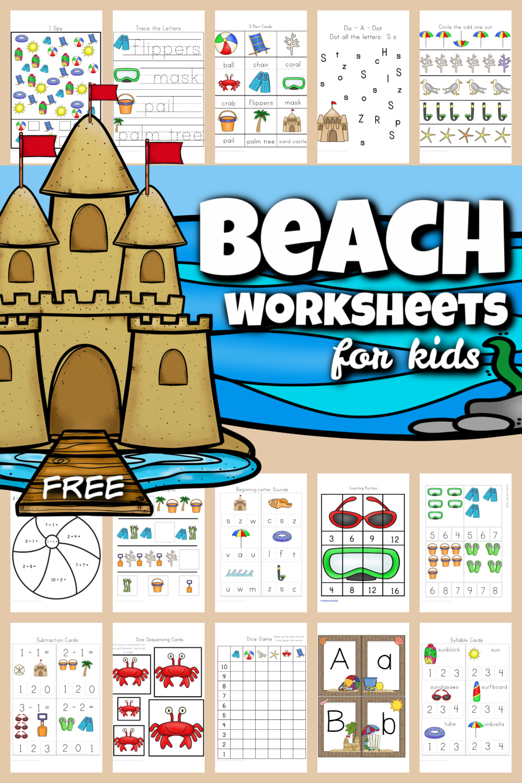 Free Printable Beach Worksheets For Preschool K 1st
