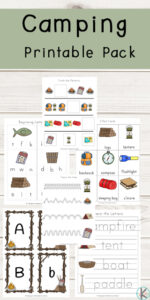 camping theme worksheets