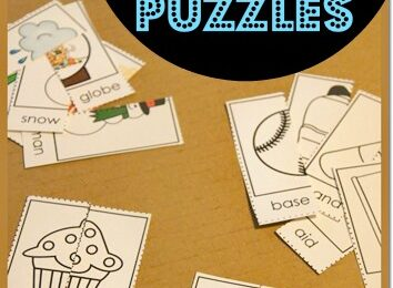 Help kids visualize, understand, and learn compound words with these super cute, free printable Compound Word Puzzles. These are such a fun hands on learning activity for pre-k, kindergarten, first graders, and 2nd grade students.  This compound words activity is such a fun way to teach compound words for kids with a clever educational activity.