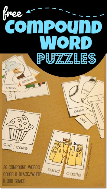 Help kids visualize, understand, and learn compound words with these super cute, free printable Compound Word Puzzles. These are such a fun hands on learning activity for pre-k, kindergarten, first graders, and 2nd grade students. This compound words activity is such a fun way to teachcompound words for kidswith a clever educational activity.