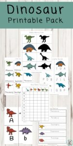 dinosaur themed worksheets
