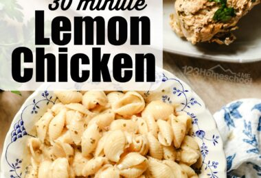 Mouthwatering, 30 minutes Lemon Chicken is such a yummy, easy dinner ideas for families. You can cook the chicken frozen!