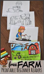 farm printable beginner reading book