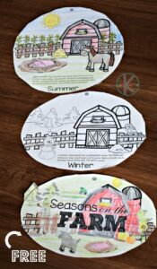 farm seasons flip book