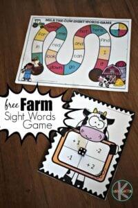 farm sight words game