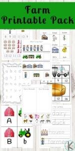 farm themed worksheets