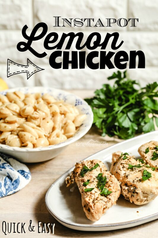 Quick and Easy Instapot Lemon Chicken goes from frozen to tender, juicy, and flavorful in under 30 minutes! This frozen chicken recipes is sure to be your new favorite weekday dinner for your family!