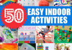 If you are stuck at home with your kids and need something to keep them happily occupied, then this list of easy indoor activities for kids is for you! So many creative kids activities for toddler, preschool, pre k, kindergarten, first grade, 2nd grade, and more!
