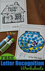 preschool letter recognition do a dot printables from a to z