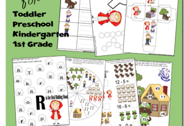 little red riding hood themed worksheets