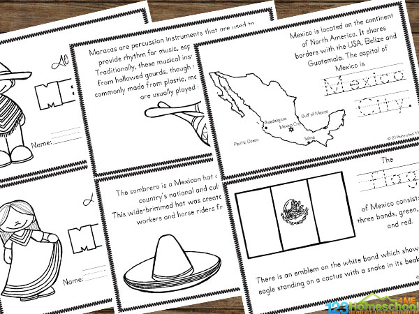 super cute mexico for kids printable