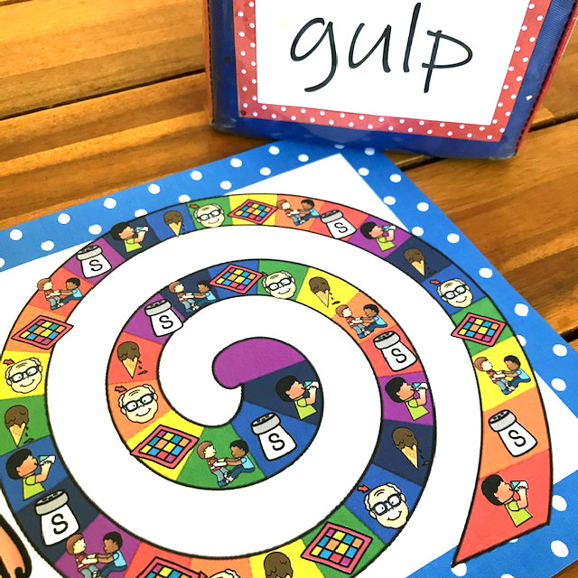 phonics game helping grade 1 read ending blends like gulp