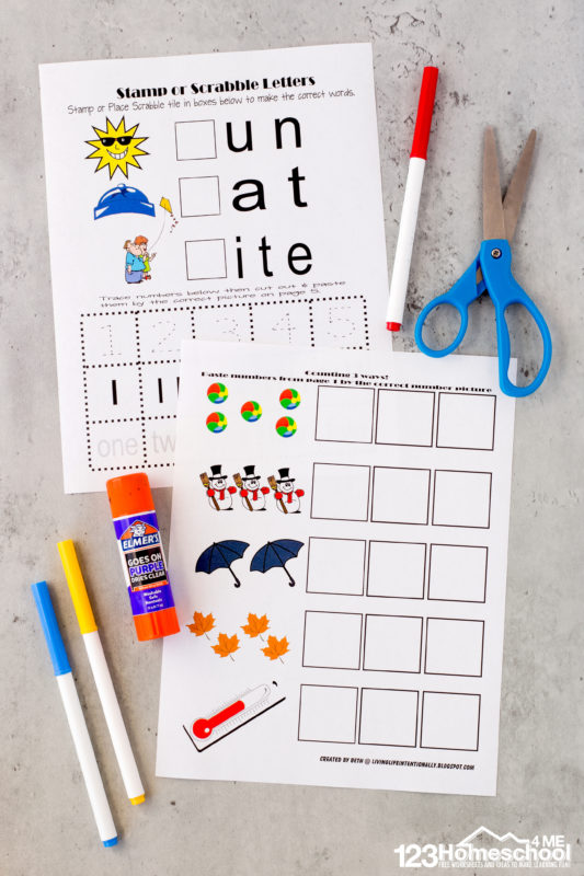 pre-k weather worksheets