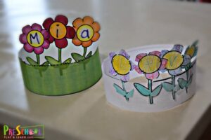 printable flower craft