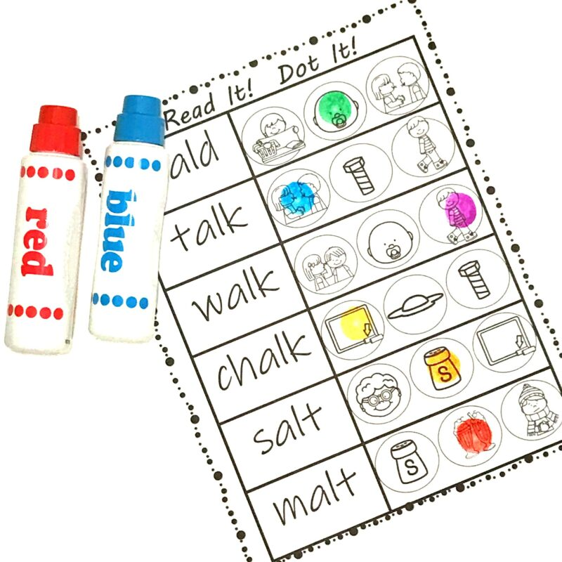 bingo marker worksheets to help grade 1 read ending blends