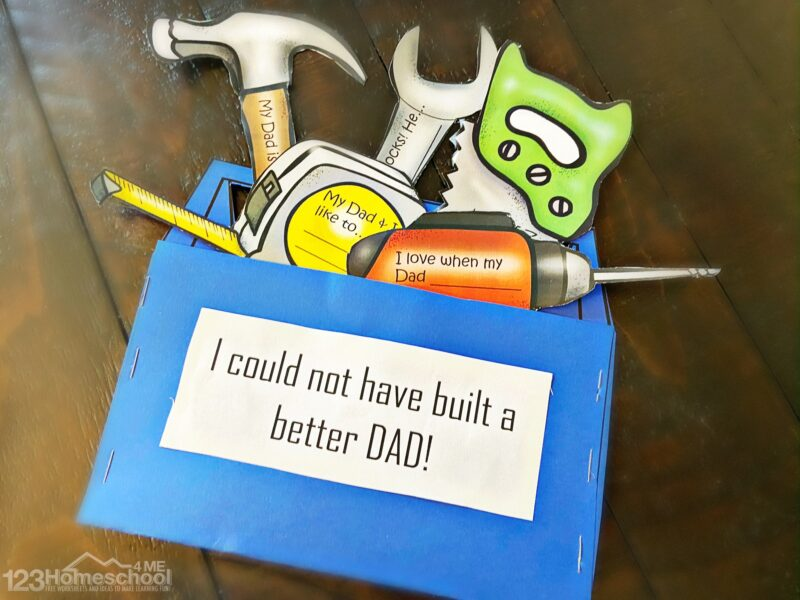 easy Fathers Day Gift Ideas from Kids with a fun tool theme that will be a precious keepsake gift