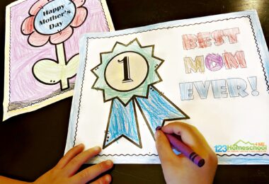 simple pretty flower and #1 Mom Award Mother's Day Coloring Pages