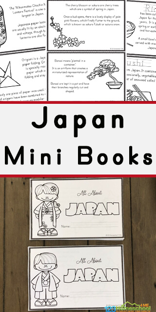 Take a fascinating journey into the Pacific Ocean to see Mt Fiji, charming gardens, and try sushi with chopsticks without even leaving home to learn about Japan for Kids with these free printable books for preschool, pre k, kindergarten, first grade, 2nd grade, 3rd grade, and 4th grade students.