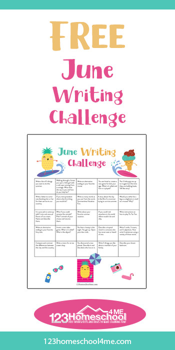 Ready to make writing FUN for your kids this summer? Children will be excited to write with this free printable, June Writing Prompts. Plus these creative writing prompts are in a convenient printable calendar to encourage your whole family to keep writing all month long!
