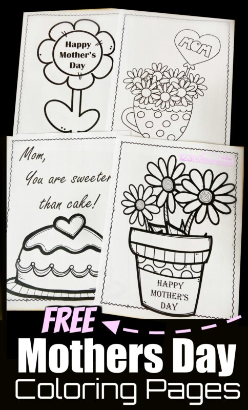 These super cute Mothers Day Coloring Sheets are the perfect thing for kids of all ages to make and give as a mothers day gift.