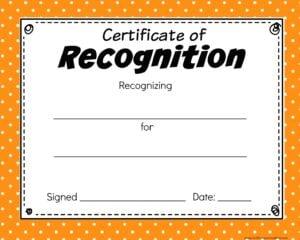 Printable Certificates orange