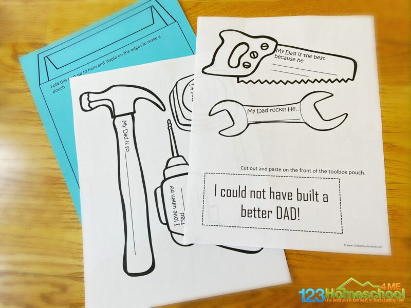 Printable Fathers Day Craft
