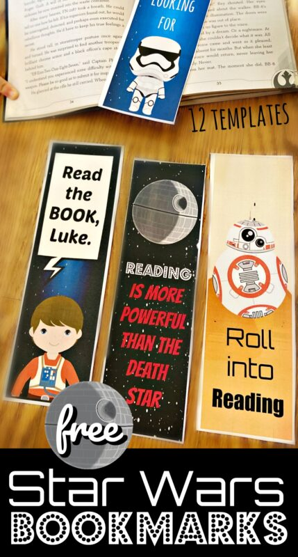 Whether you are celebrating Star Wars Day on May the 4th or just looking for a cute, free printable bookmark so you don't loose your place - these cute Star Wars Bookmarks are just what you are looking for!