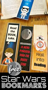 super cute star wars themed printable bookmarks