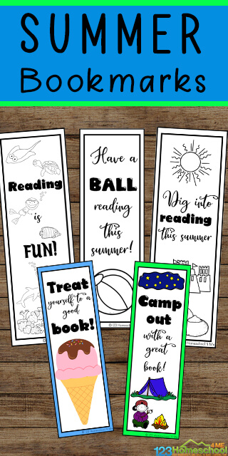 Celebrate the first day of summer on June 20th by printing out one of these super cute, FREE Printable Bookmarks. These are such an easy way to get kids excited about reading!