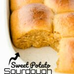 Do you enjoy making yummy homemade bread? If you, you must try these delicious Sweet Potato Sourdough Dinner Rolls. Your house will smell like a bakery all day as theyeastless bread rises. For dinner, you will have satisfying dinner rolls with healthy sweet potatoes for sweet flavor!
